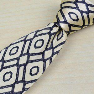 Stefano Ricci Off white Red Blue Silk tie